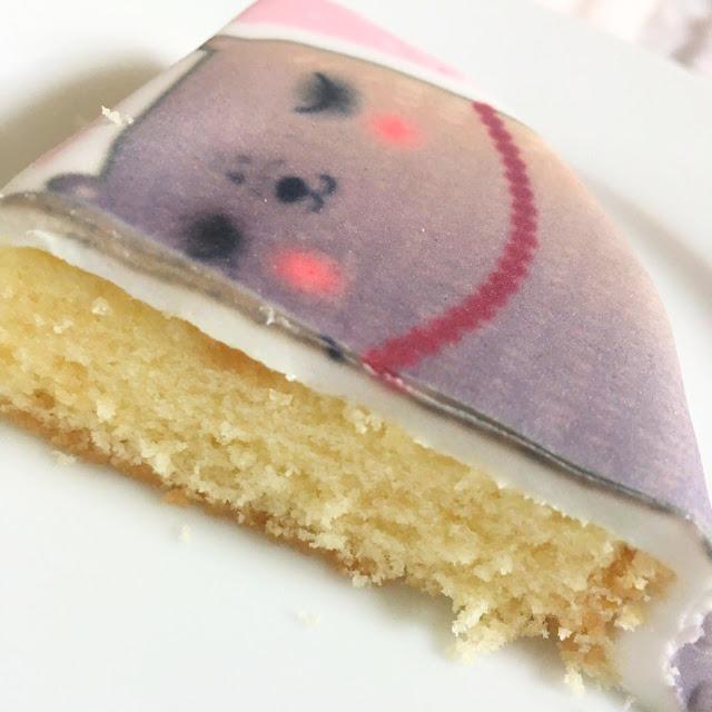 Bakerdays letterbox cake closeup