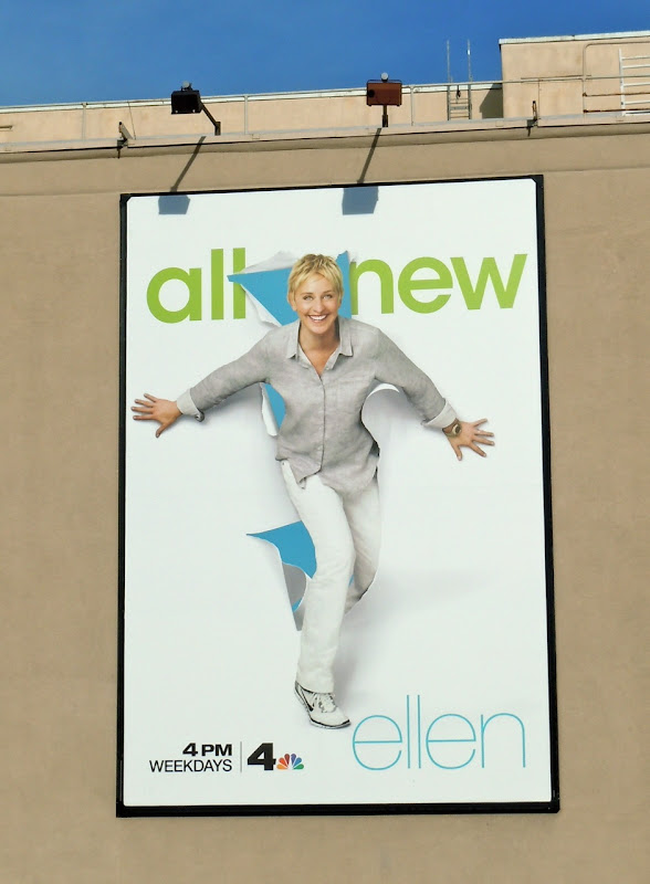 Ellen talk show billboard