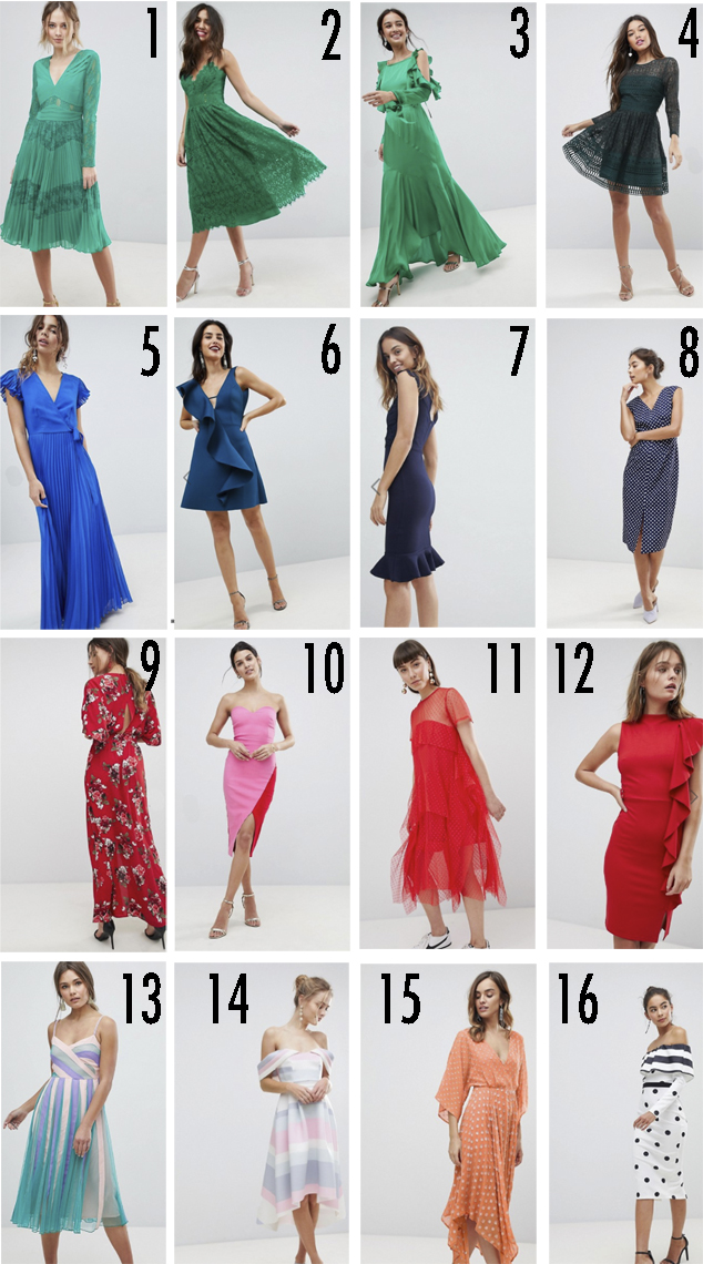 155ad5f1d8 DE LUNARES Y NARANJAS  Wishlist  16 vestidos de invitada de boda ...