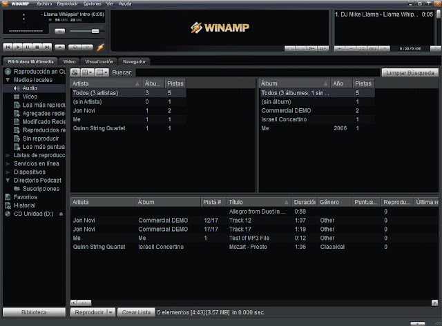 Descargar Winamp Player Mega y Mediafire