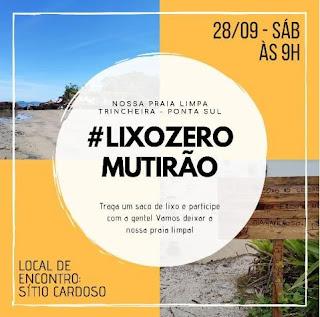 Sítio Cardoso, no Boqueirão Sul, convida população e  turistas para mutirão no sábado 28/09