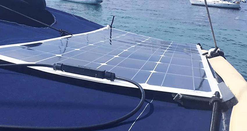 solar panel on van