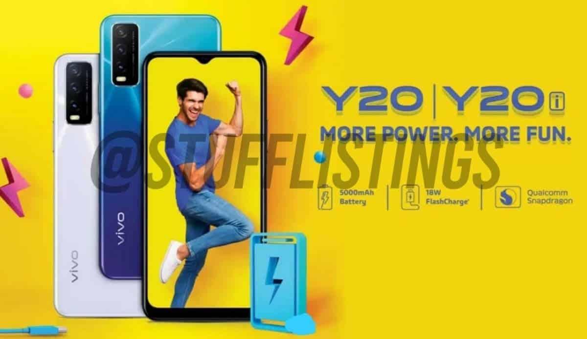 تسريب صور و مواصفات هاتف VIVO Y20 و Y20I