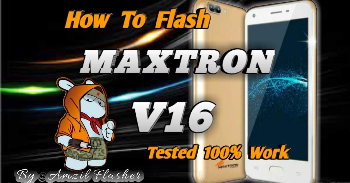 Cara Flash Maxtron V16  Tested 1000  Work