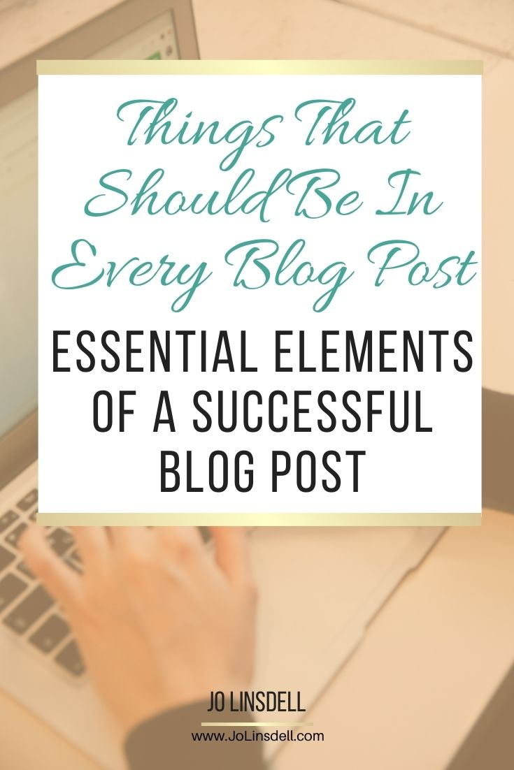 Critical elements that should be included in all blog posts