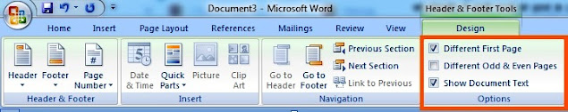 How to Set Different Headers on Different Pages in MS Word