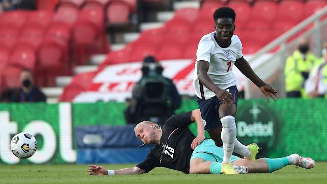 England winger Bukayo Saka
