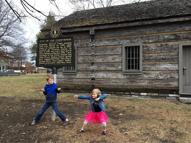 Kids at Constitution Square in Danville, Kentucky