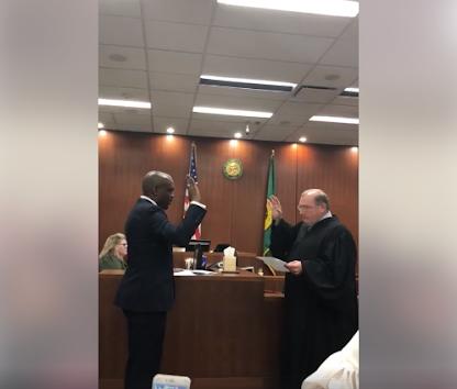 Nigerian Man, Okoloko Sworn In As Judge In US (Photos)