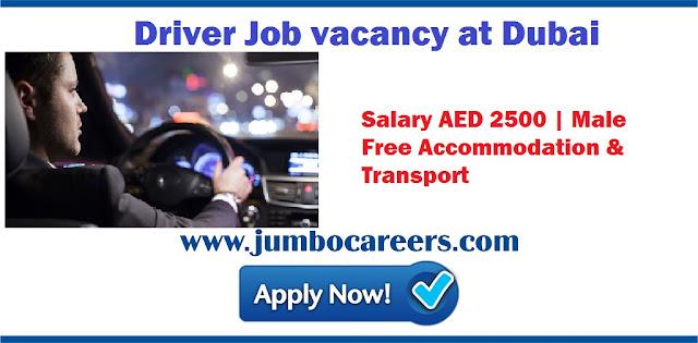 Driver Job Vacancy at Dubai