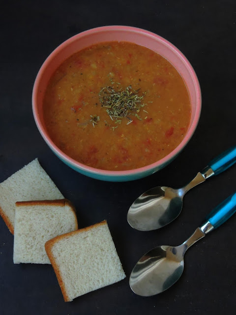 Sudanese Red Lentils Soup, Addas