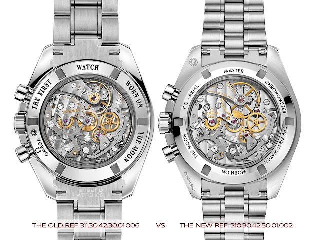 Old and new Omega Speedmaster Moonwatch 2021