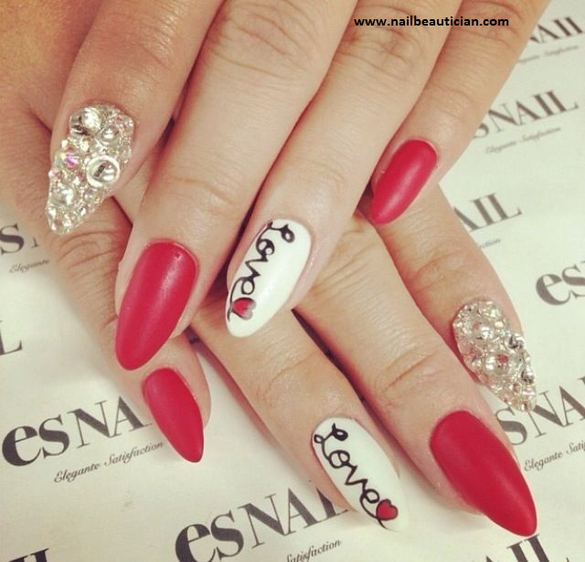 Red silky nail art