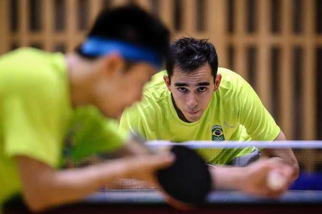 Calderano do tênis de mesa Brasil