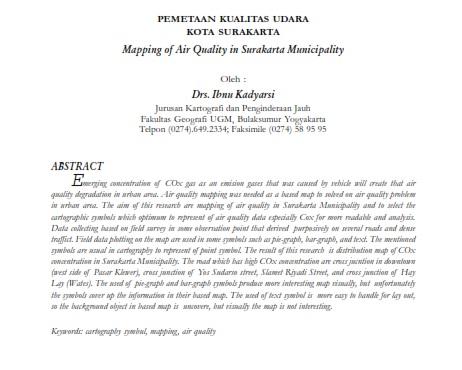 Pemetaan Kualitas Udara Kota Surakarta [PAPER]