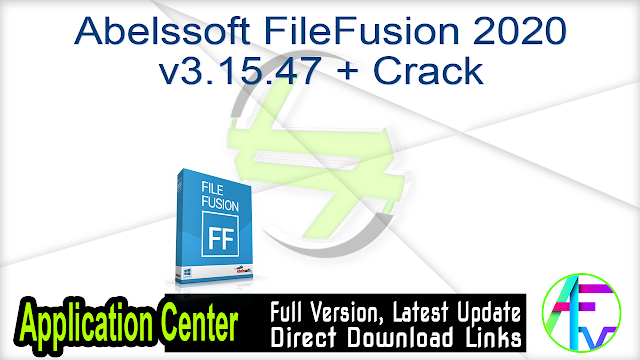 Abelssoft FileFusion 2020 v3.15.47 + Crack