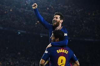 Messi và Suarez khi cả hai cùng tăng cường sức mạnh cho Barcelona (Getty Images)