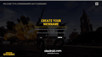 Create your nickname PUBG Lite