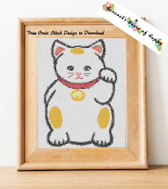 Maneki Neko Free Cross Stitch Chart has Moved to a New Page. Click the Link Below.