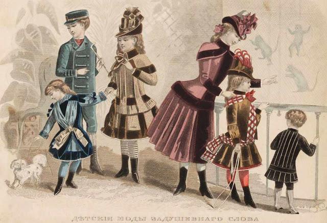 детская мода 1886