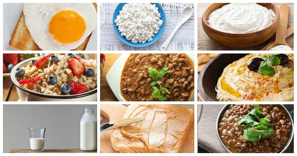 افضل 9 أكلات للافطار غنية بالبروتين