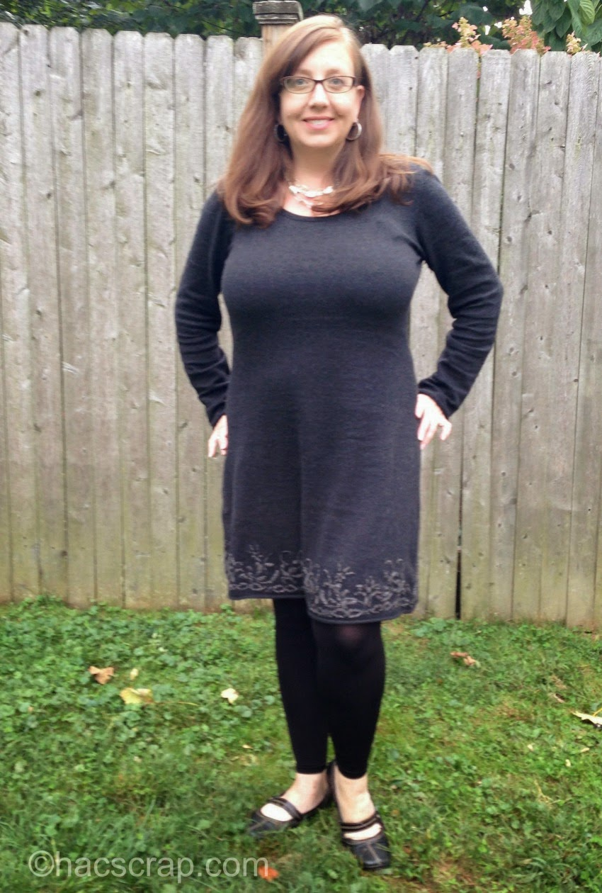 Everyday Style - Aventura Grey Dress with Flats and Footless Tights
