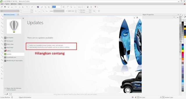 Cara Mematikan Fitur Auto Update Corel Draw Ketika Terkoneksi Internet