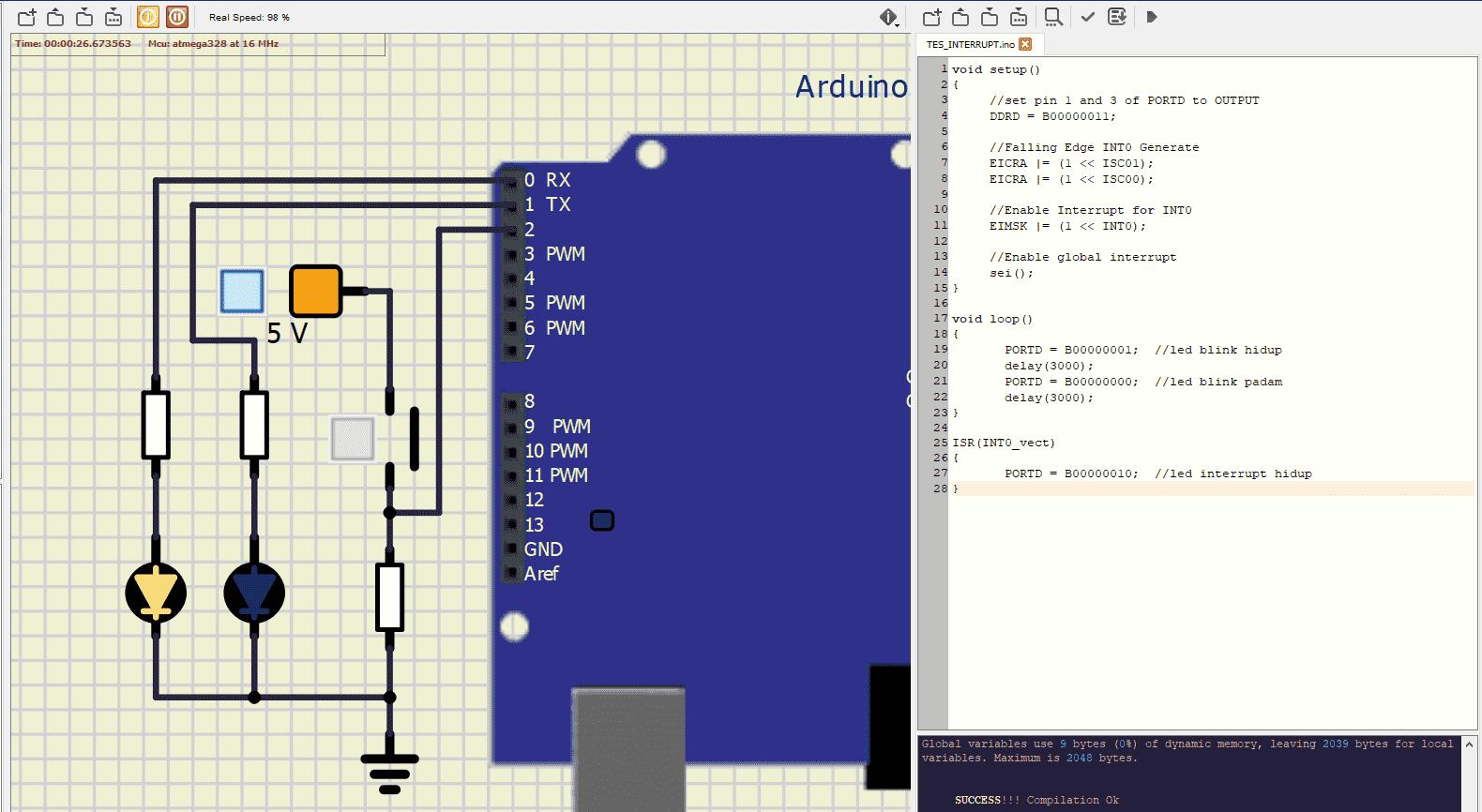 Penjelasan Interrupts Microcontroller Dasar