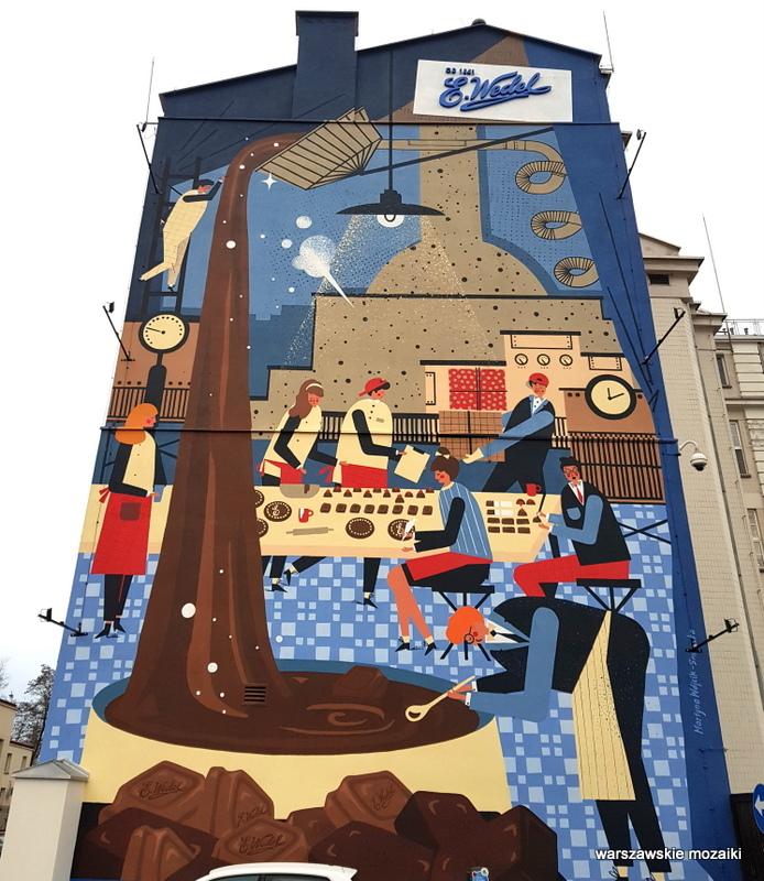 Warszawa Warsaw Praga Południe Grochów Kamionek ewedel #warszawskie murale murals street streetart grafika Martyna Wójcik Śmierska 2019