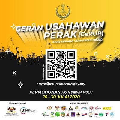 Permohonan Geran Usahawan Perak (GeRUP) 2020 Online (Semakan Status)