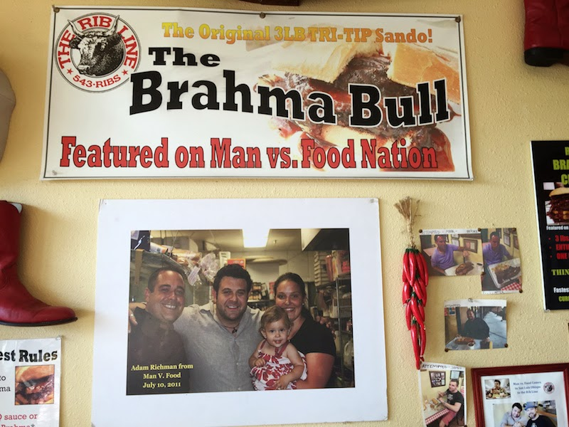 The Brahma Bull challenge at The Rib Line