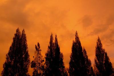 Senja sayu di Berastagi, Sumatera Utara