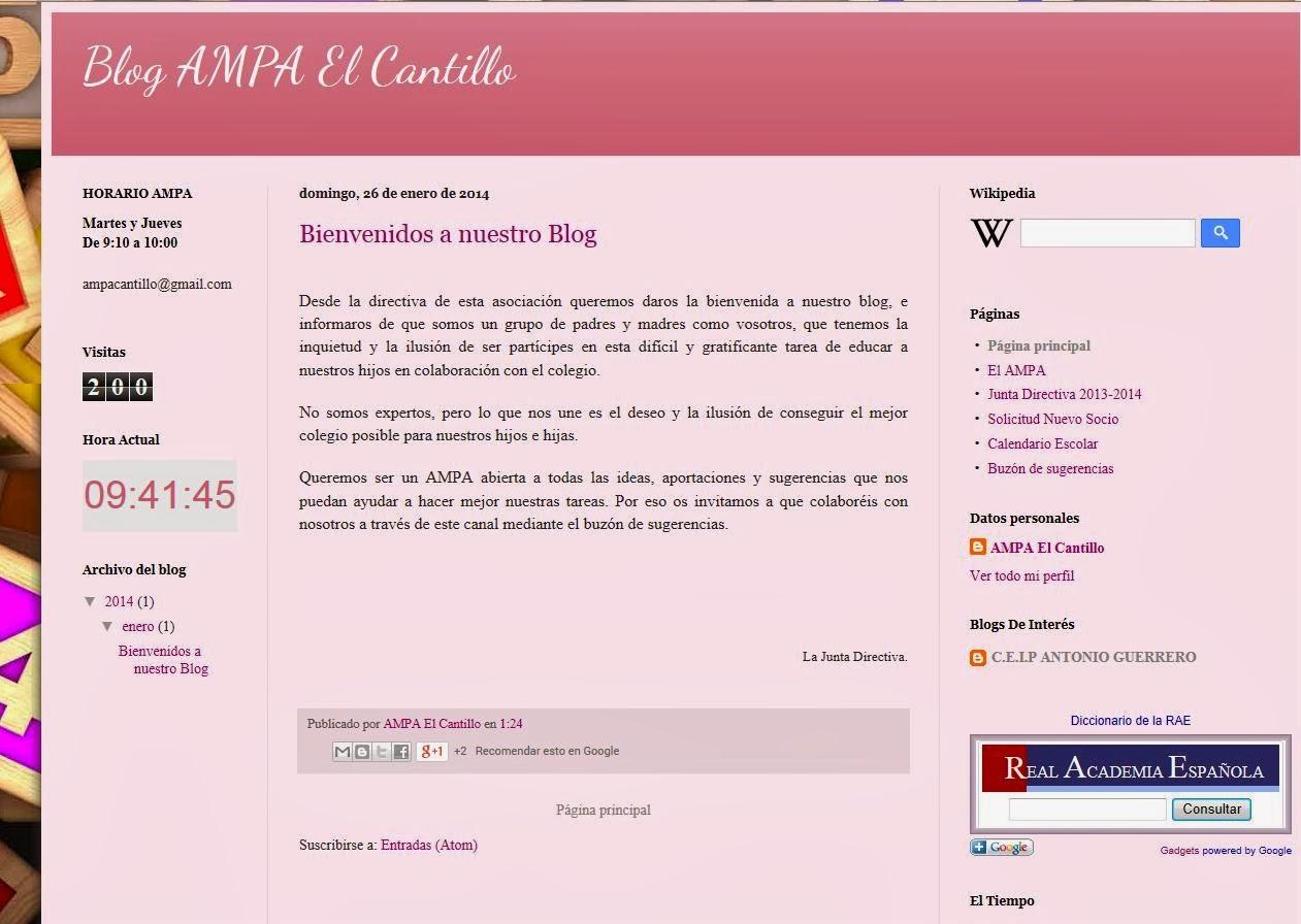 http://ampaelcantillo.blogspot.com.es/