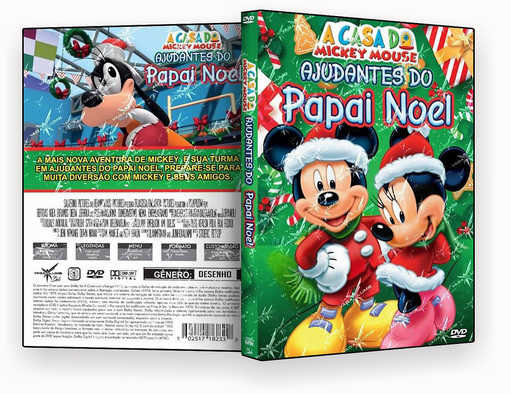 CAPA DVD – A Casa Do Mickey Mouse Ajudantes Do Papai Noel DVD-R