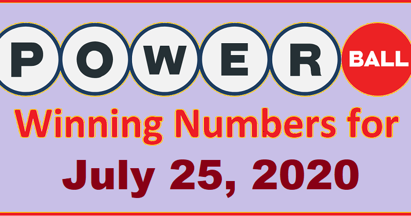 Powerball Winning Numbers For Saturday July 25 2020