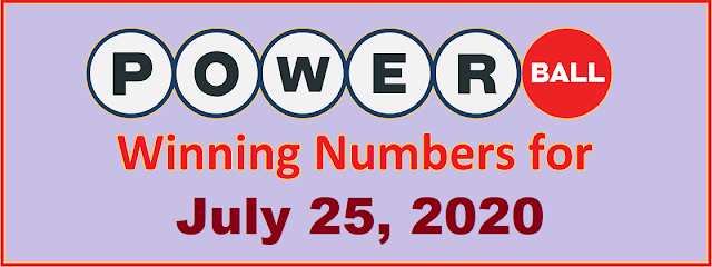 PowerBall Winning Numbers for Saturday, July 25, 2020
