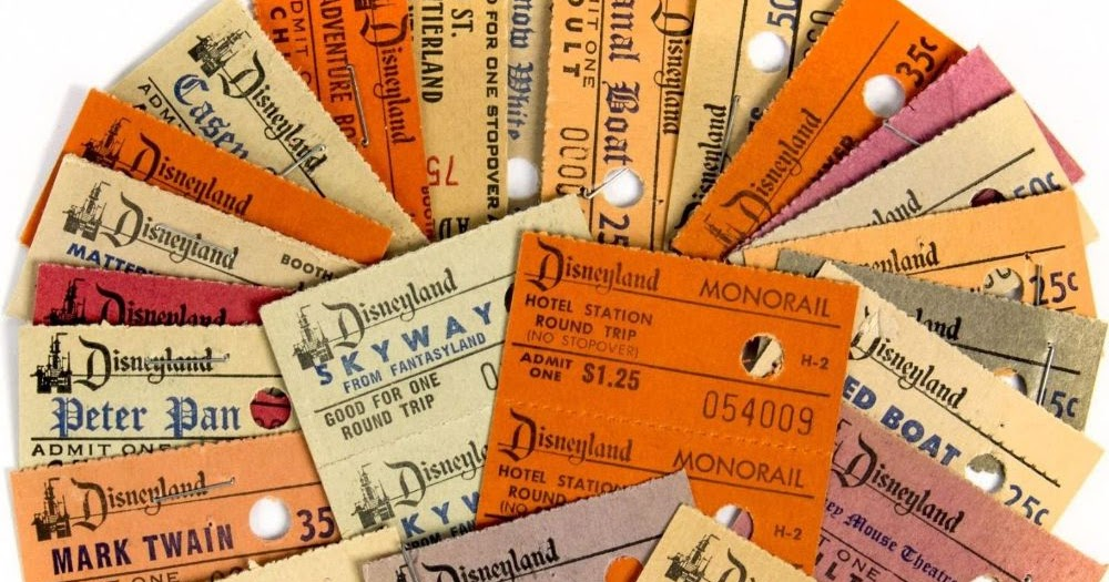 Disneyland Ticket Stubs, circa 1960s