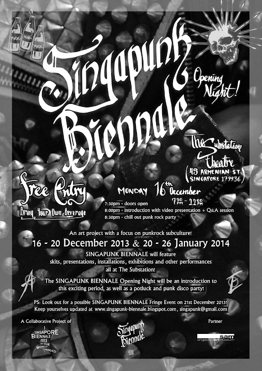 SINGAPUNK BIENNALE Opening Party! (16th Nov 2013!)