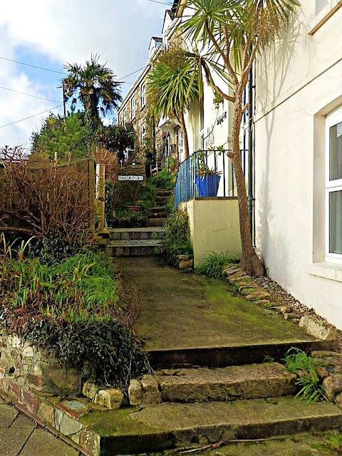 Cottages at Pentewan, Cornwall