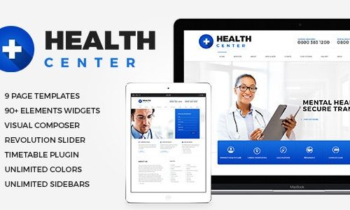 Health Center v2.1 Nulled - Medical WordPress theme