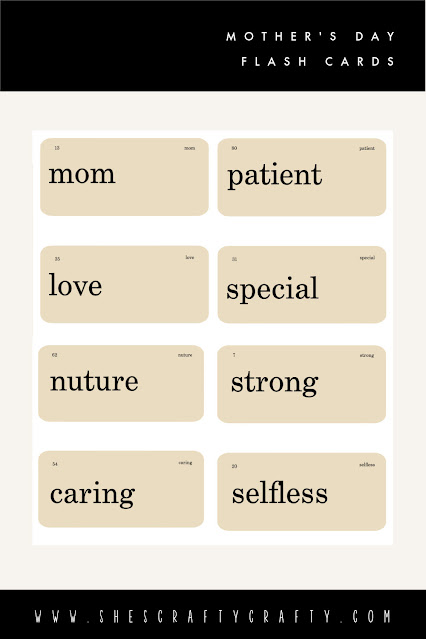 Mother's Day Flash card free printable Pinterest Pin.