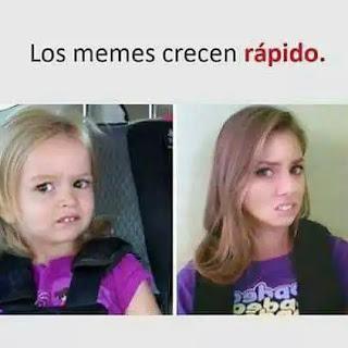 Meme niña chica vs niña mayor