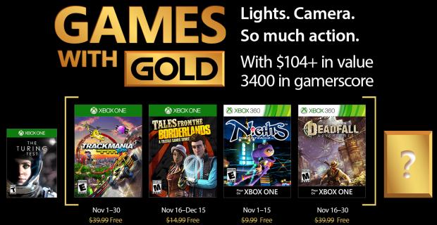 Desvelados los Games with Gold de noviembre