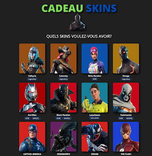 cadeauskinsfortnite com free skins fortnite 2021 unlimited