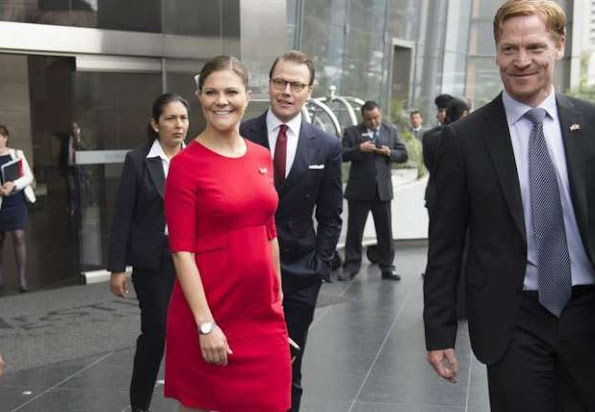Crown Princess Victoria of Sweden and Prince Daniel visits Peru. The Crown Princess Couple participated in the inauguration of a seminar and met with students on October 19, 2015 in Lima, Peru