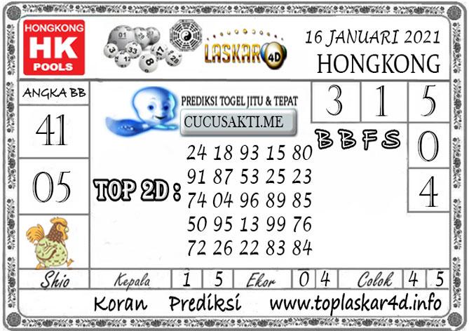 Prediksi Togel HONGKONG LASKAR4D 16 JANUARI 2021