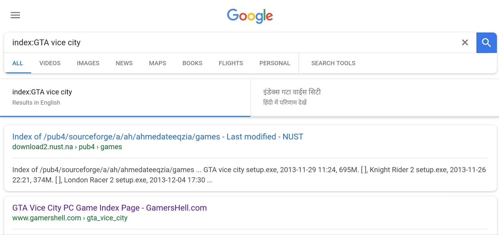 Google Dorks For Games