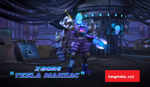 Script Skin Epic Xborg Tesla Maniac Full Effect Mobile Legends