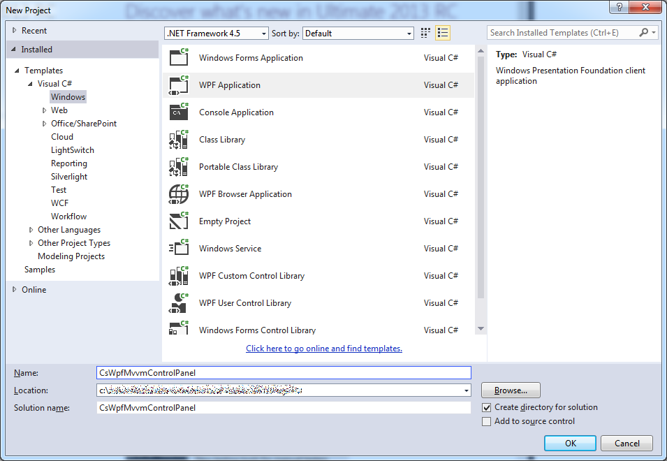 Programmer's Ranch: C# WPF: Control Panel using MVVM