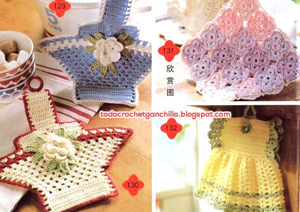 10 Agarraderas Vintage / Patrones Crochet | Todo crochet